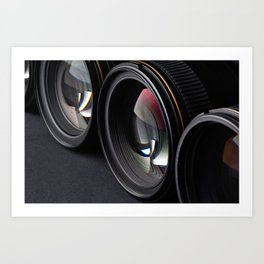 Photo lenses Art Print