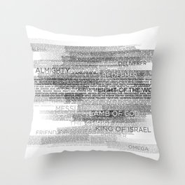 Names of God Throw Pillow