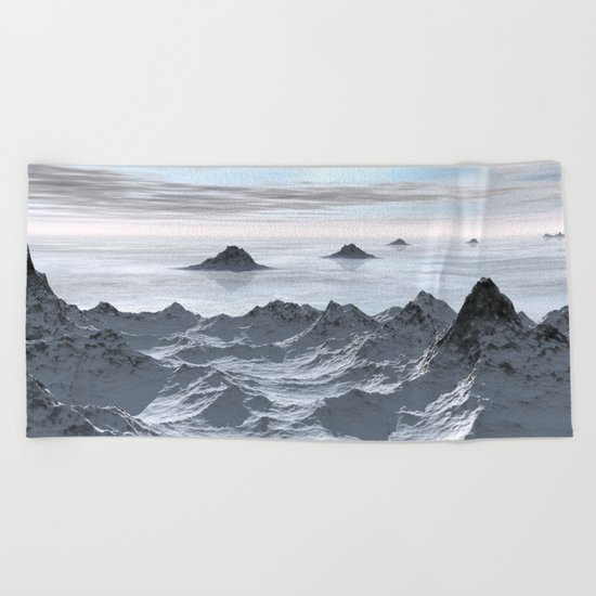 Frozen Arctic Sea Beach Towel