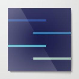 Abstract Minimal Retro Stripes Surf Metal Print