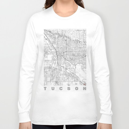 Tucson Map Line Long Sleeve T-shirt