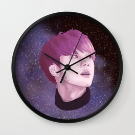 BTS Jin Galaxy drawing Wall Clock