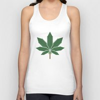 weed Tank Tops featuring weed by rubenmontero