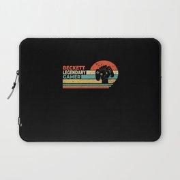 Beckett Legendary Gamer Personalized Gift Laptop Sleeve