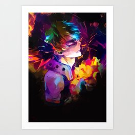 The hero of the explosions Art Print