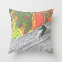 rasta Throw Pillows featuring Rasta Corner by Calepotts