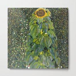 Sunflower by Gustav Klimt Metal Print