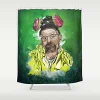 walter white Shower Curtains featuring Walter White  by Madows