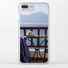 Time For Vacations By The Sea Clear iPhone Case