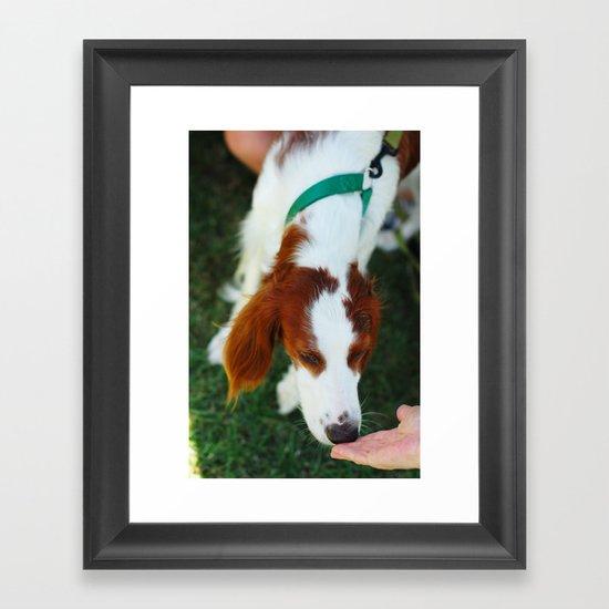 Greet Framed Art Print
