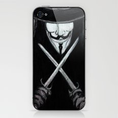 V for Vendetta  (by Esin )5 iPhone & iPod Skin