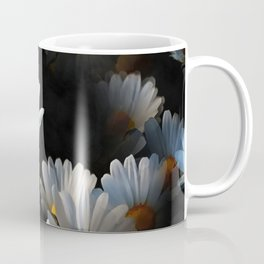 A Plethora Of Floating Daisies Isolated On Black Coffee Mug