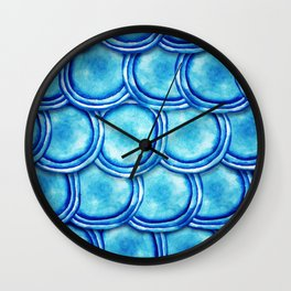 round shapes watercolor seamless ornament Wall Clock