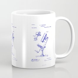 Microscope Vintage Technical Patent Drawing Coffee Mug