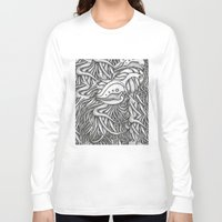 evolution Long Sleeve T-shirts featuring Evolution  by OKAINA IMAGE