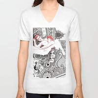 henna V-neck T-shirts featuring Henna Lovers by N.I.S.