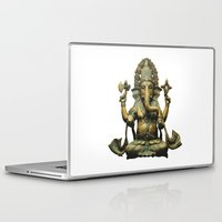 ganesha Laptop & iPad Skins featuring Ganesha by Justin Atkins