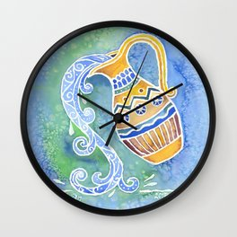 Zodiac Collection: Aquarius Wall Clock