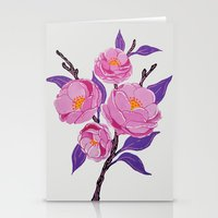 study Stationery Cards featuring Flower study by Bexelbee
