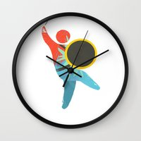 drum Wall Clocks featuring I Drum  by ArtistArt