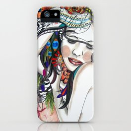 Thinking About Thinking iPhone Case