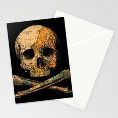 Treasure Map Skull Wanderlust Europe Stationery Cards