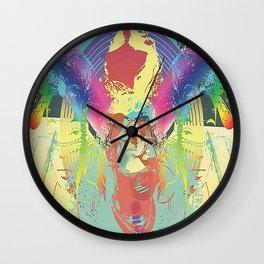 Rainbow Fire Wall Clock