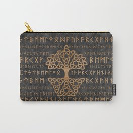 Elder Futhark Pattern and Tree of life Carry-All Pouch