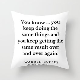 30  | Warren Buffett Quotes | 190823 Throw Pillow
