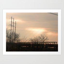 Light Train Art Print