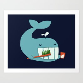 Brush Your Teeth Art Print