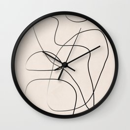 Abstract Line I Wall Clock
