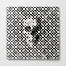 Wicker Skull Metal Print