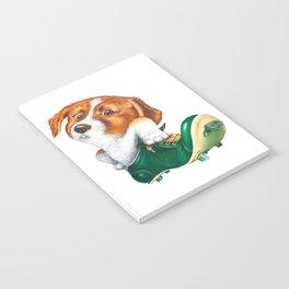 A little dog in a spike Notebook