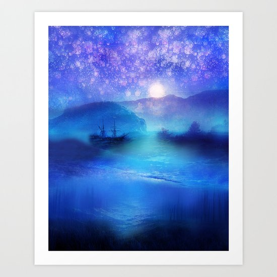 Fantasy in Blue. Art Print