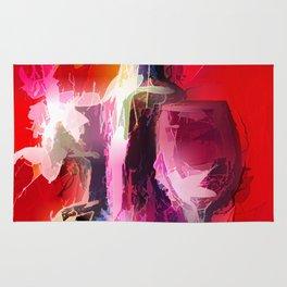 Fun Colorful Modern Wine Art (wine bottle & glasses) #society6 #wine Rug