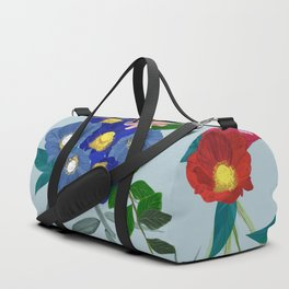 Magnolia, Lily, Protea and Colorful Flowers Pattern Duffle Bag