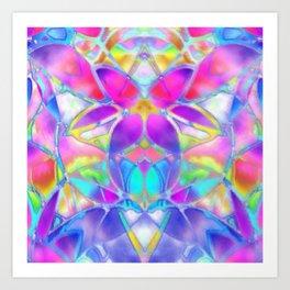 Floral Fractal Art G307 Art Print