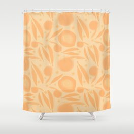 Apricot Peaches and Blossom Shower Curtain