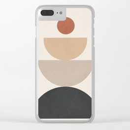 Geometric Modern Art 31 Clear iPhone Case