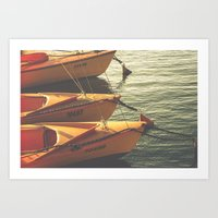 boats Art Prints featuring Boats by Sharon RG Photography
