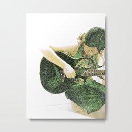 green guitar Metal Print