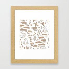 Brushstroke Scatter Framed Art Print