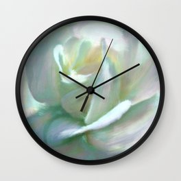 Painterly Iridescent Rose Wall Clock