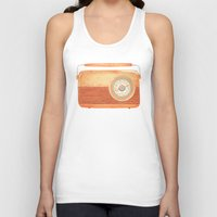 oslo Tank Tops featuring Radio Silence by One Curious Chip