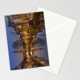 Church reflected in a canal in Delft, The Netherlands Stationery Cards