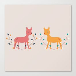 deer fun Canvas Print
