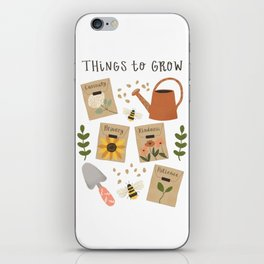 Things to Grow - Garden Seeds iPhone Skin