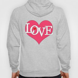 Pink Heart Filled with Love Hoody