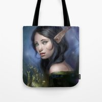 magical girl Tote Bags featuring Magical girl by Maximko